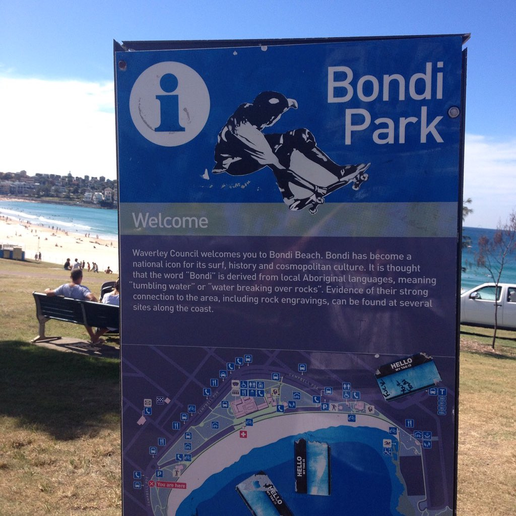 Sticker seen at #Bondibeach #Bondibowl pic.twitter.com/cdc0bTM38s