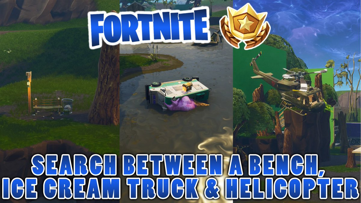 Fortnite Sear Beteen A Bench Icecream Truck And A Helicopter Kristal Stroj Svetnik Bench Ice Truck Helicopter Lancenewland Com