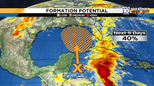 test Twitter Media - NHC is stating that the broad surface low just east of Belize has a 40% chance of development in the next 5 days. Once it moves into the Gulf development is possible, regardless SFLO will see more tropical downpours and flooding this Memorial day weekend https://t.co/8G49HtdVqb