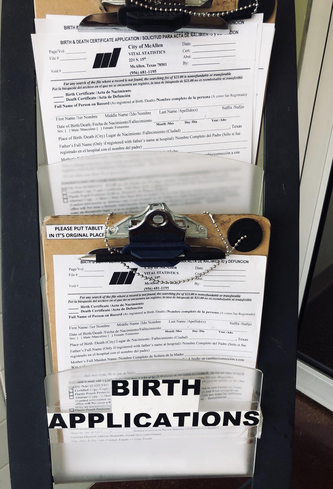 Excepcional Birth Certificate Mcallen Tx Viñeta - Certificado Actas ...