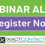 Don't miss today's free @IXACTContact webinar at 1 p.m., EST. You'll learn how you can grow your real estate business in five simple steps with a robust CRM. Register now! https://t.co/C3iOExPfW1 #spon