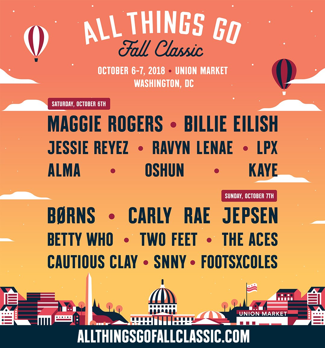 The Fall Classic 2018 lineup is here. Tickets go onsale tomorrow at 10AM ET. #ATGFallClassic