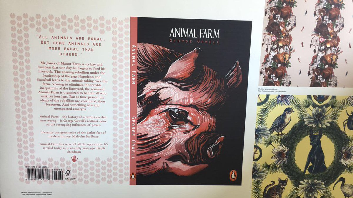 Festival Creativity On Twitter Fabulous To See How Some Of The Students Have Interpreted A Classic Animal Farm By George Orwell