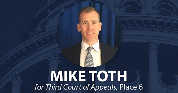 Please remember to vote for Mike @TothForJustice!