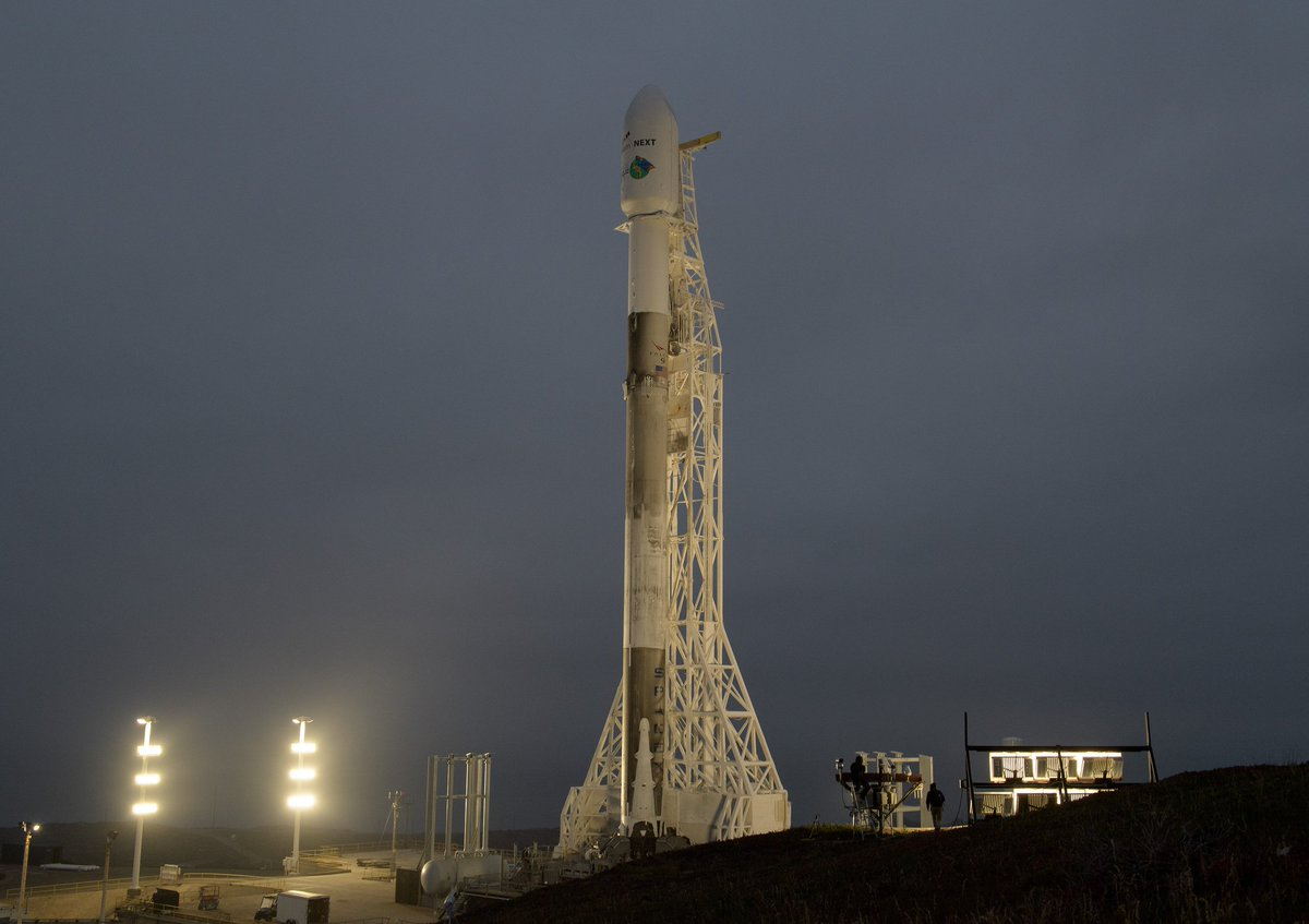 Today's the day #GRACEFO launches on a #SpaceX Falcon 9! 12:47pm PT / 3:47pm ET / 7:47pm UTC Space Launch Complex 4E Vandenberg Air Force Base, California Live launch coverage begins at 12:15pm PT on https://t.co/fc95BkNnjU