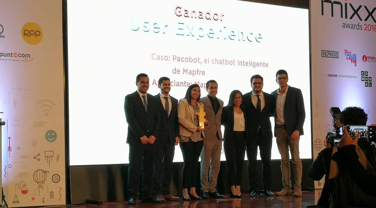 ¡Felicidades @MAPFRE_PE  por ser ganador en la categoría User experience de los premios #IABMIXXPERU2018 !