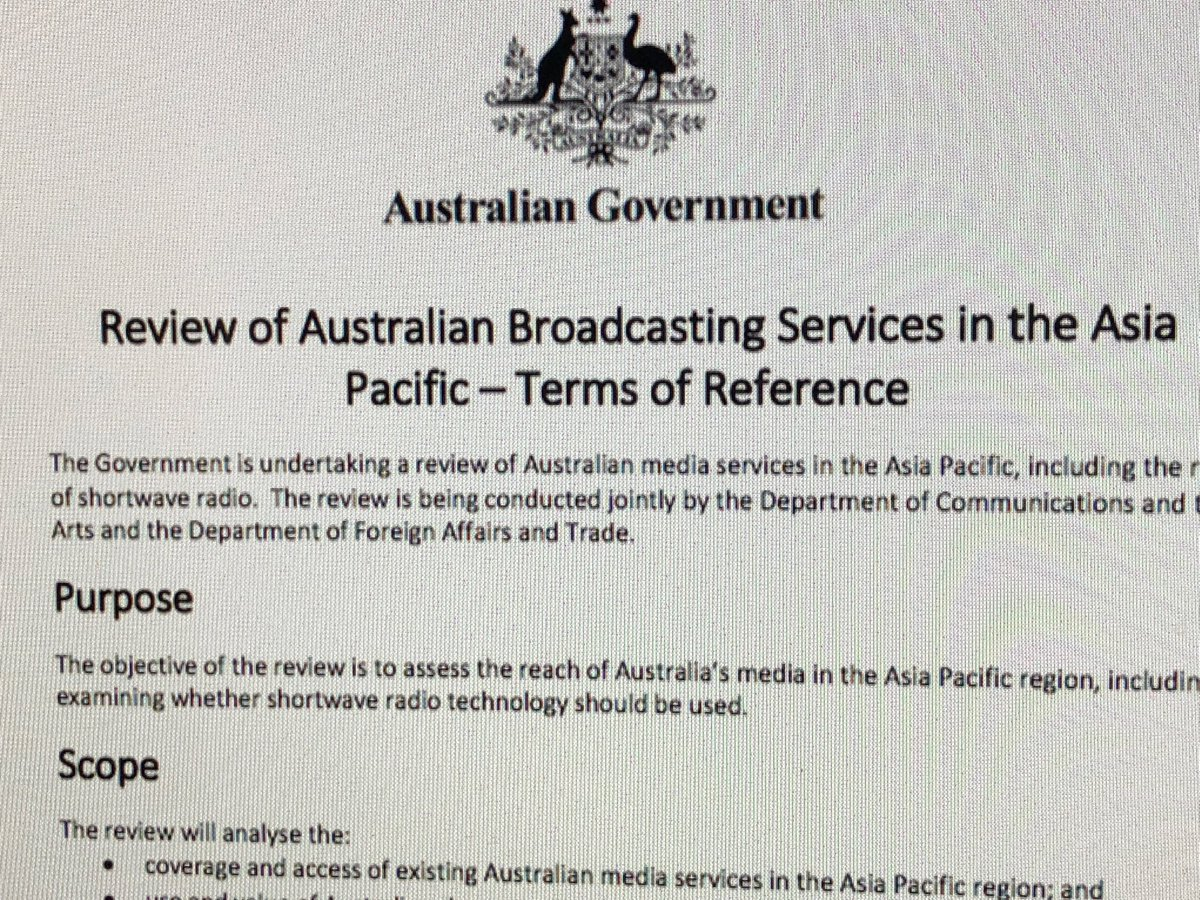 Quentin Dempster On Twitter Four Years After JulieBishopMP Destroyed Australias ABC Asia Pacific Broadcasting Short Wave Services DFAT Communications