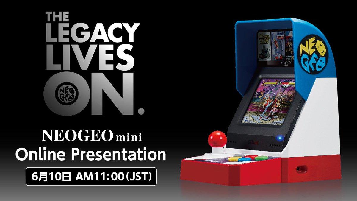 snk japan on twitter neogeo mini online presentation the legacy
