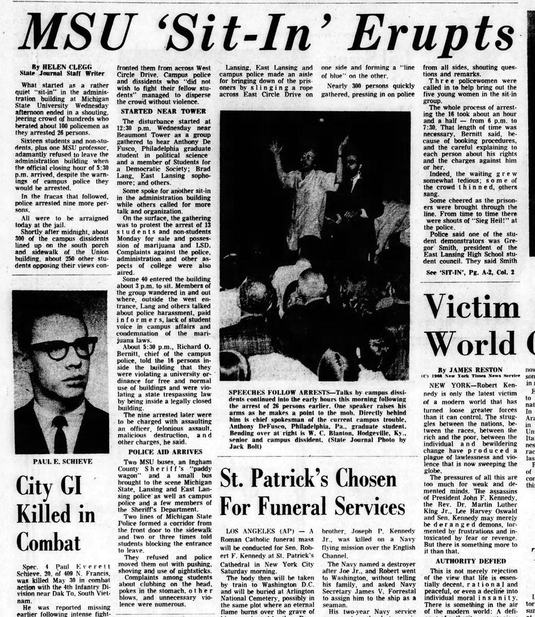 1968 : Campus Sit-In Protests Marijuana and LSD Arrests