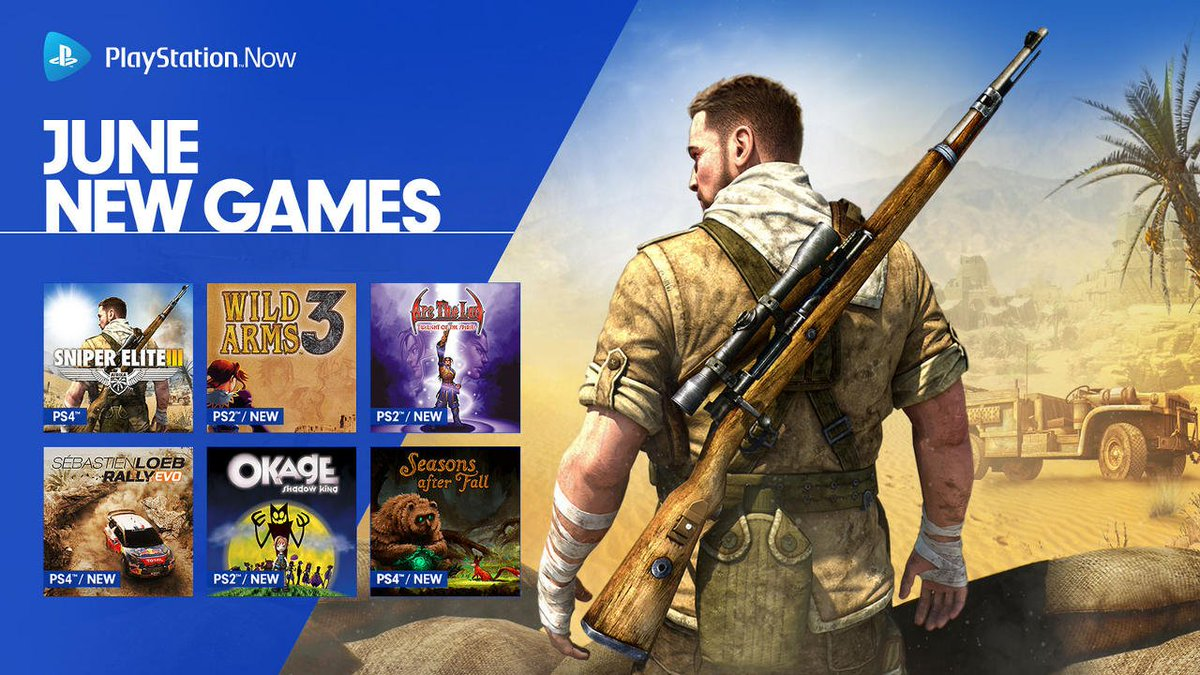 Playstation On Twitter 12 Games Have Been Added To The Ps Now Game Sony Ps4 Wrc 6 Fia World Rally Championship Streaming Library Including Upgrades Of Sniper Elite 3 Ultimate Edition And 5 Https Playst 2lqyjwc