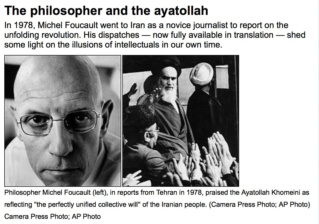 Image result for Foucault Iran