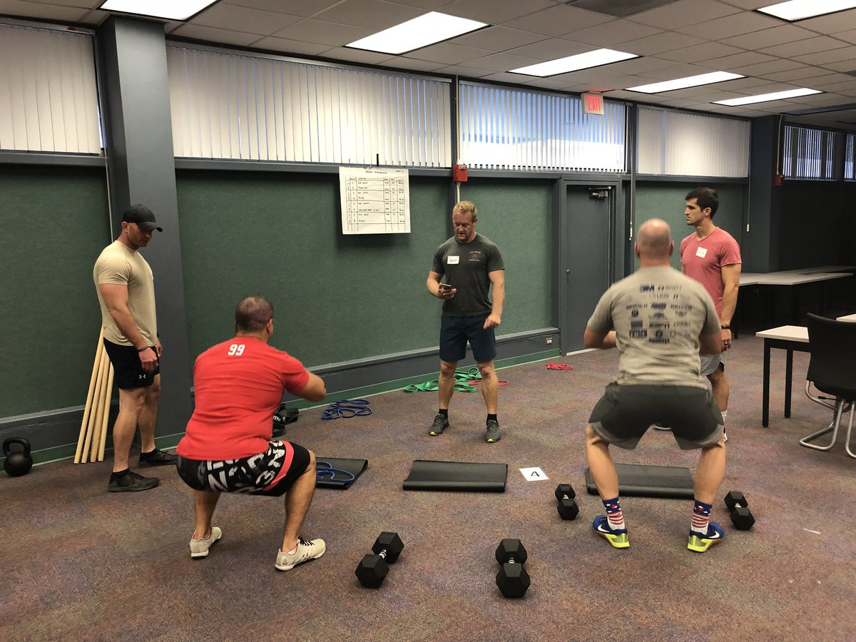 6974bcf430d Day 2 of IAFF Peer Fitness Trainer course. Covering exercise session  design