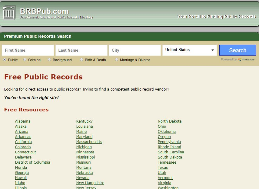 free search of public records florida
