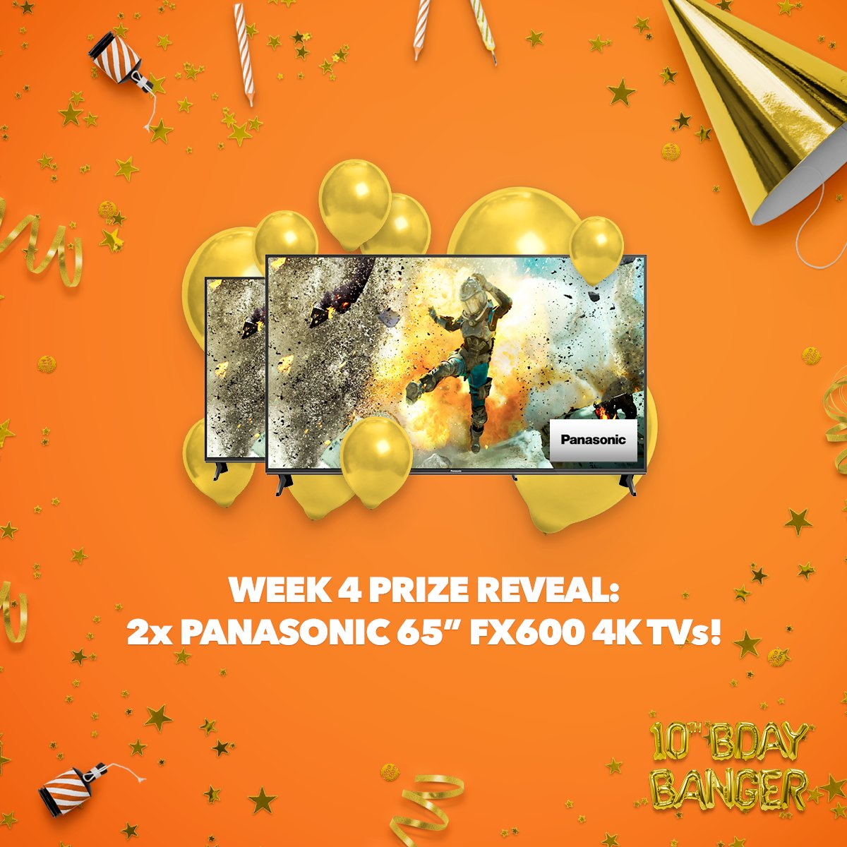 "Wanna spend your evenings in front of Ultra HD Netflix? Make sure you've  applied for your 2018 tax refund by this weekend for your chance to win  Panasonic's awesome new 65"" FX600 4K TV worth $3399 in our final WooHoo #birthdaybanger! http://www.woohoo.co.nz/birthday   T&Cs apply."