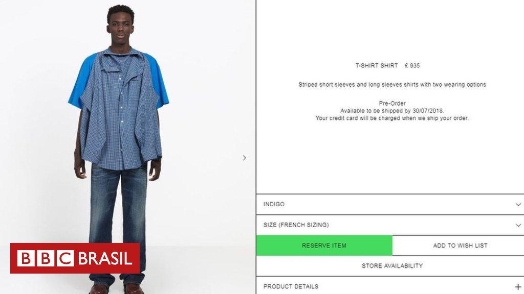 19cf9dc49 a nova camisa de r 4600 da balenciaga que gerou uma polemica viral nas redes