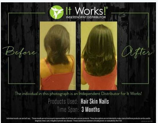 #Fun #Friendship and #Freedom It Works Global. LOOK at these awesome results using It Works Hair Skin & Nails. http://www.healthyfitwithrob.com ...