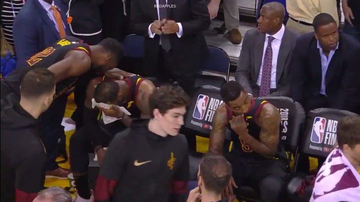 Incredible footage following J.R. Smith's NBA Finals fail shows Cavs had NO chance in OT