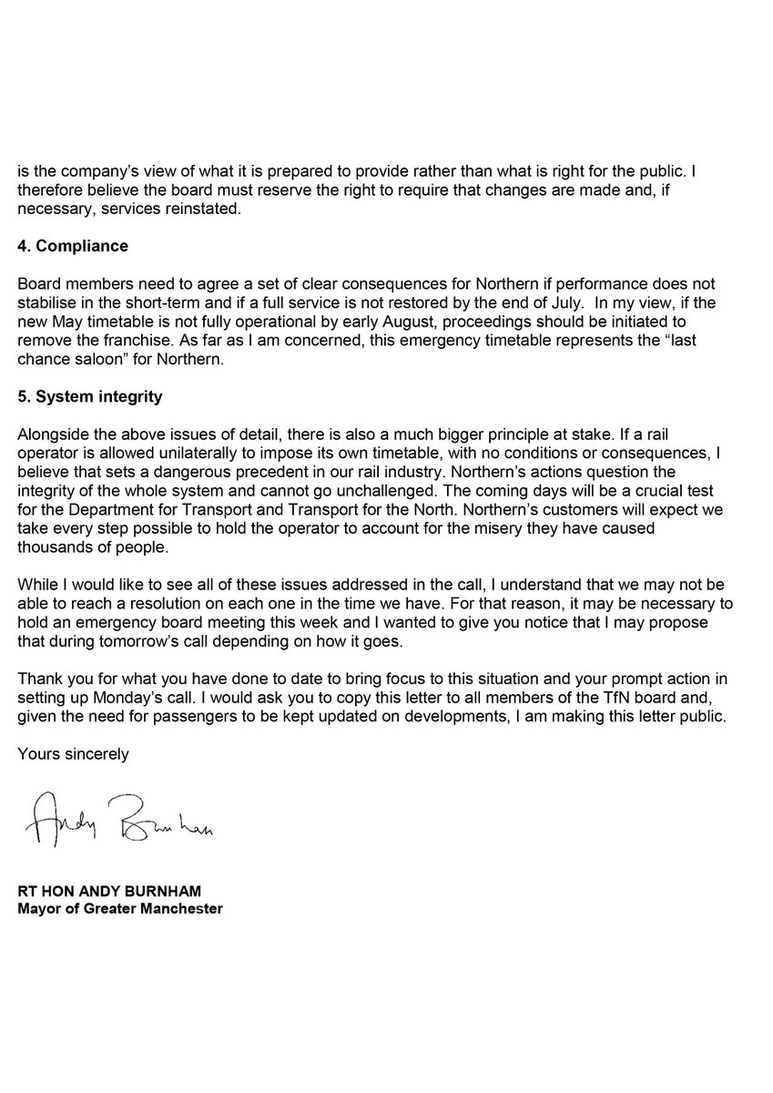 Mayor Andy Burnham On Twitter Andy Burnham Has Sent A Letter Today