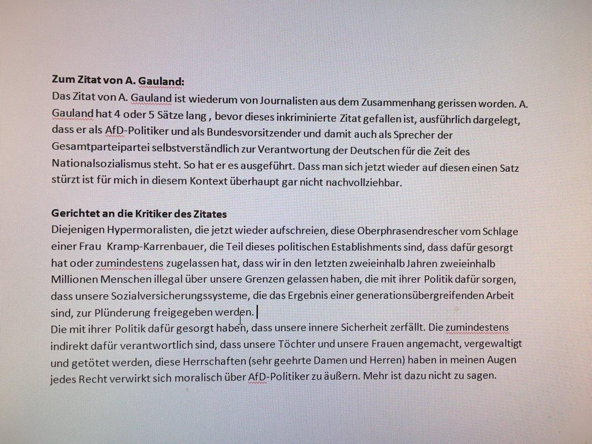 Jens Wiening On Twitter Höcke Sagt Gauland Zitat Aus