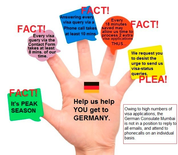 German Consul Mumbai On Twitter Owing To High Numbers Of Visa Applications The German Consulate Mumbai Isn T In A Position 2 Reply To All Emails To Attend To Phonecalls On An