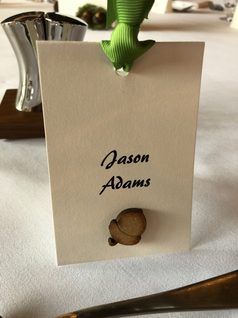 Jason Adams On Twitter Beautiful Table Plan And Place Cards To Celebrate Our Acorn Winners AcornAwards Caterertweets