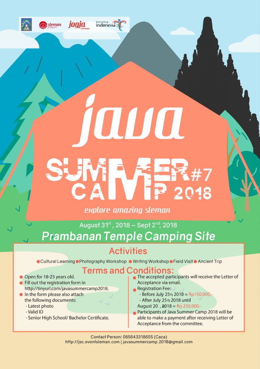 Shavitri N Dewi On Twitter Java Summer Camp 2018 Is Coming Save Explore Jogja Date To Join Exploring Piece Of Javanese Treasures August 31 Until September 2 Be There Part Excitement Jsc2018 Sleman Thelivingculture