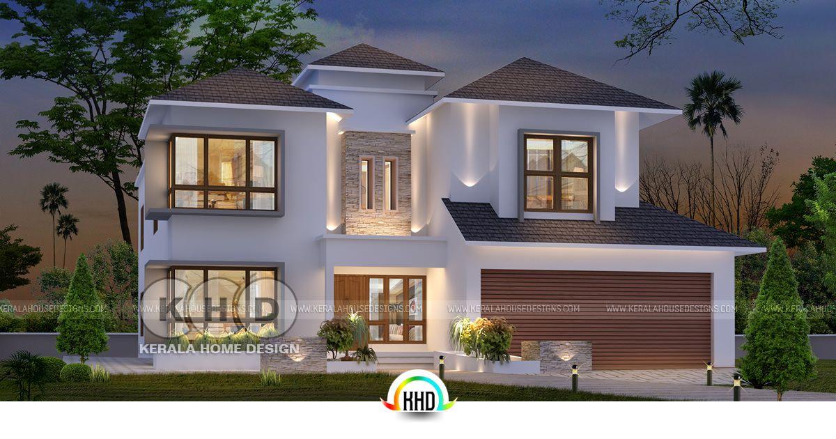 #USA Home Design From #Kerala  Https://www.keralahousedesigns.com/2018/06/usa Home Design From Kerala.html  U2026
