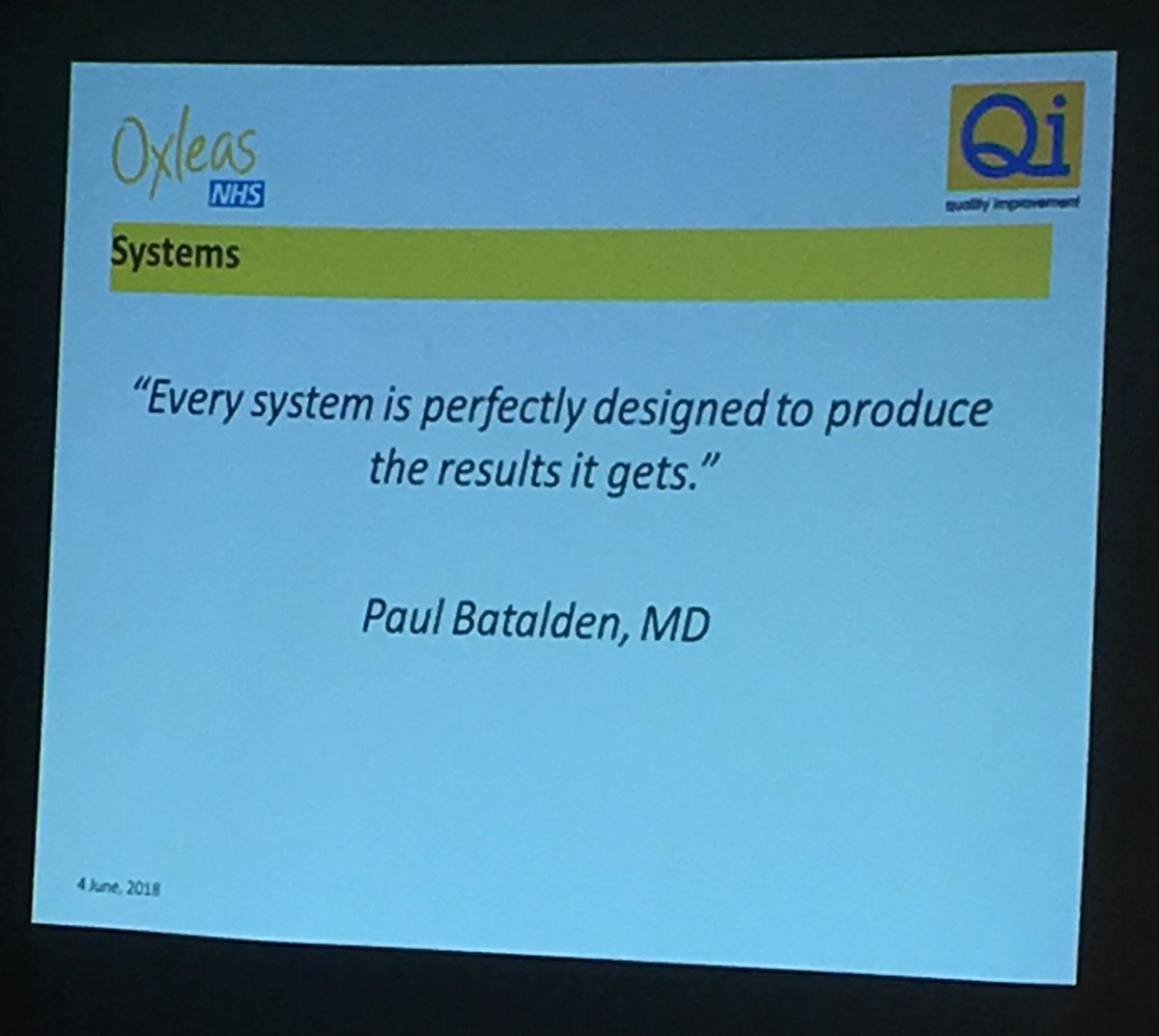 Victoria Saffin On Twitter Every System Is Perfectly Designed To Produce The Results It Gets So Very True Oxleasqi Oxleasnhs Slam Qi Rachaelleaton Pollyragoobar Qi Qualityimprovement Https T Co T9q9su5m6e