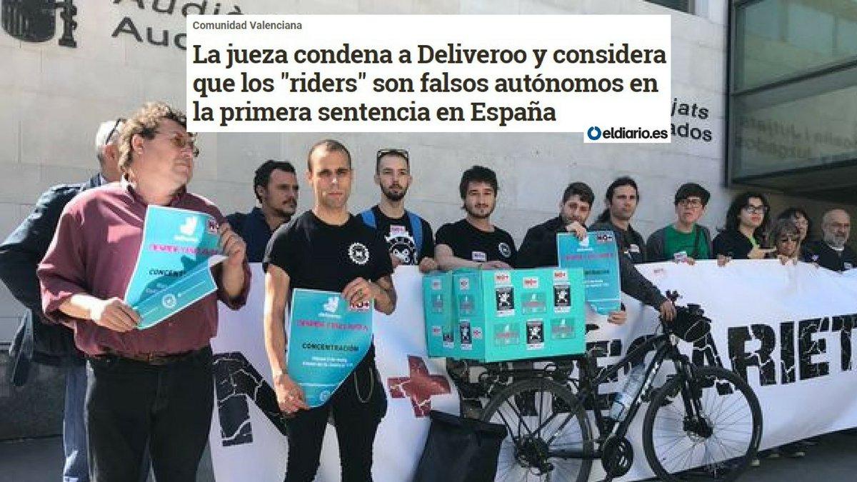 Una sentencia da la razón a uno de los @RidersxVLC y condena a Deliveroo: eldiario.es/cv/considera-D…