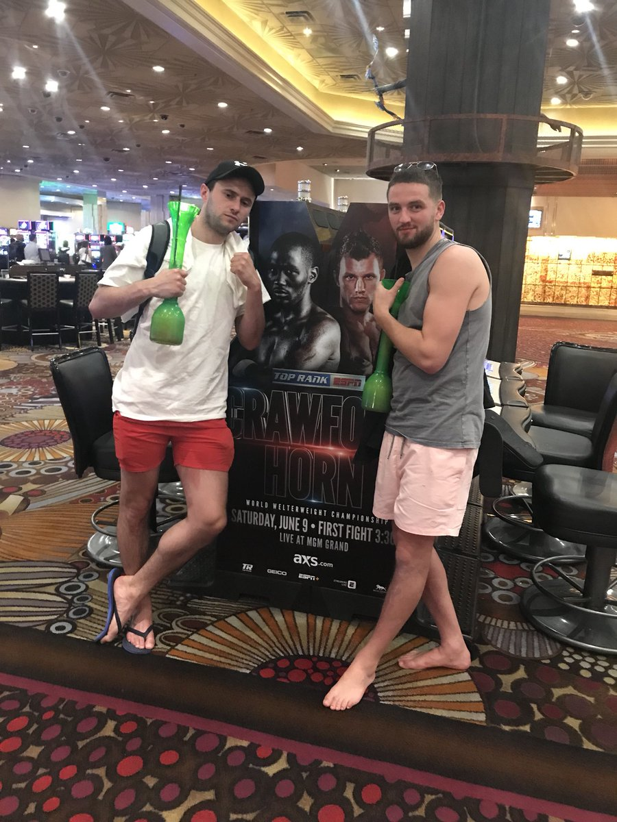 Me and @Francis_McCaff in the mgm waiting for @jeffhornboxer Big fight. You able to sort us with Any tickets ?