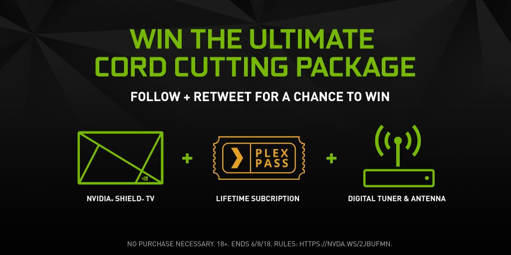 ✂️🔌 Time to #RuleTheLivingRoom! RT for a chance to win the ultimate cord cutting package with #NVIDIASHIELD, @Plex & @HDHomeRun_US! Talk about #MondayMotivation. 🔌✂️ Smash that 🔄 button and thank us after you cancel your cable subscription. Rules: nvda.ws/2Jbufmn