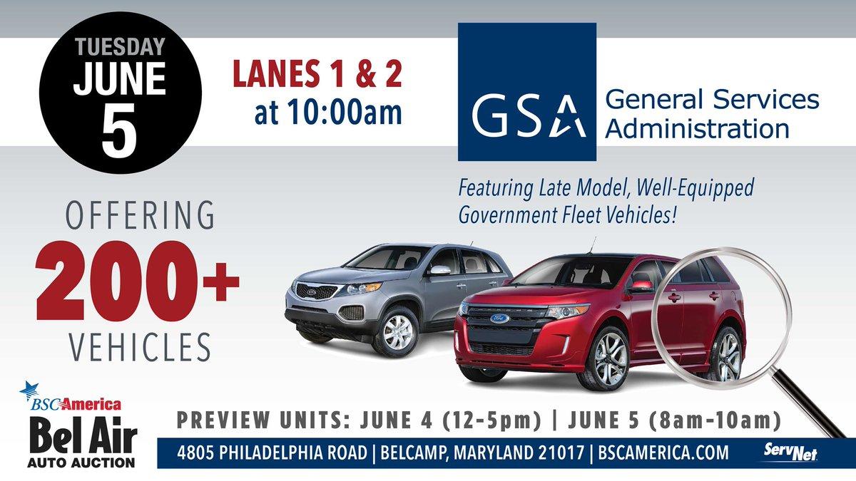 Gsa Auto Auction >> Bel Air Auto Auction On Twitter Gsa Sale Tuesday June 5th