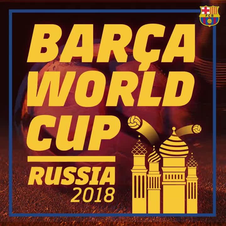 #BarçaWorldCup: 1⃣4⃣ blaugranes en el Mundial de #Rusia2018. Molta sort, nois! �� https://t.co/W48VRL6isR