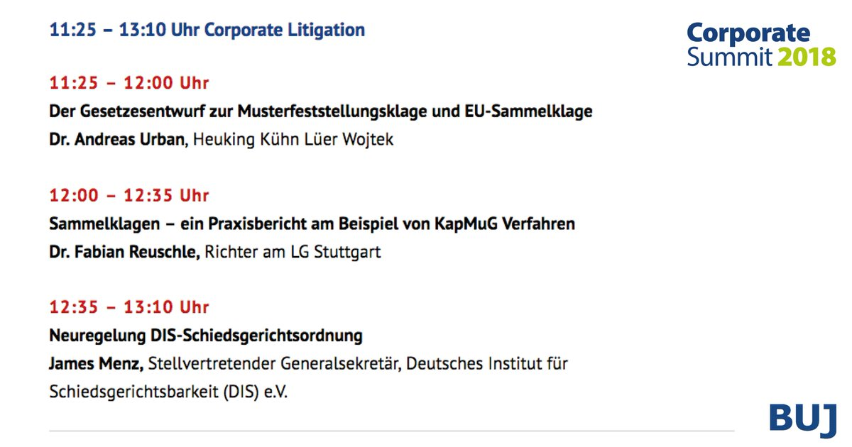 Buj Ev On Twitter Aktuelle Themen Der Corporate Litigation