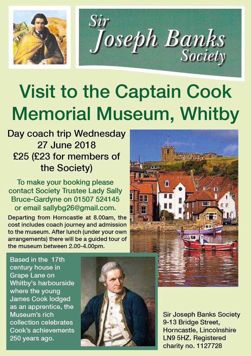 Poster Advertising A Coach Trip From Horncastle To The Captain Cook Museum In Whitby Email Sallybg26