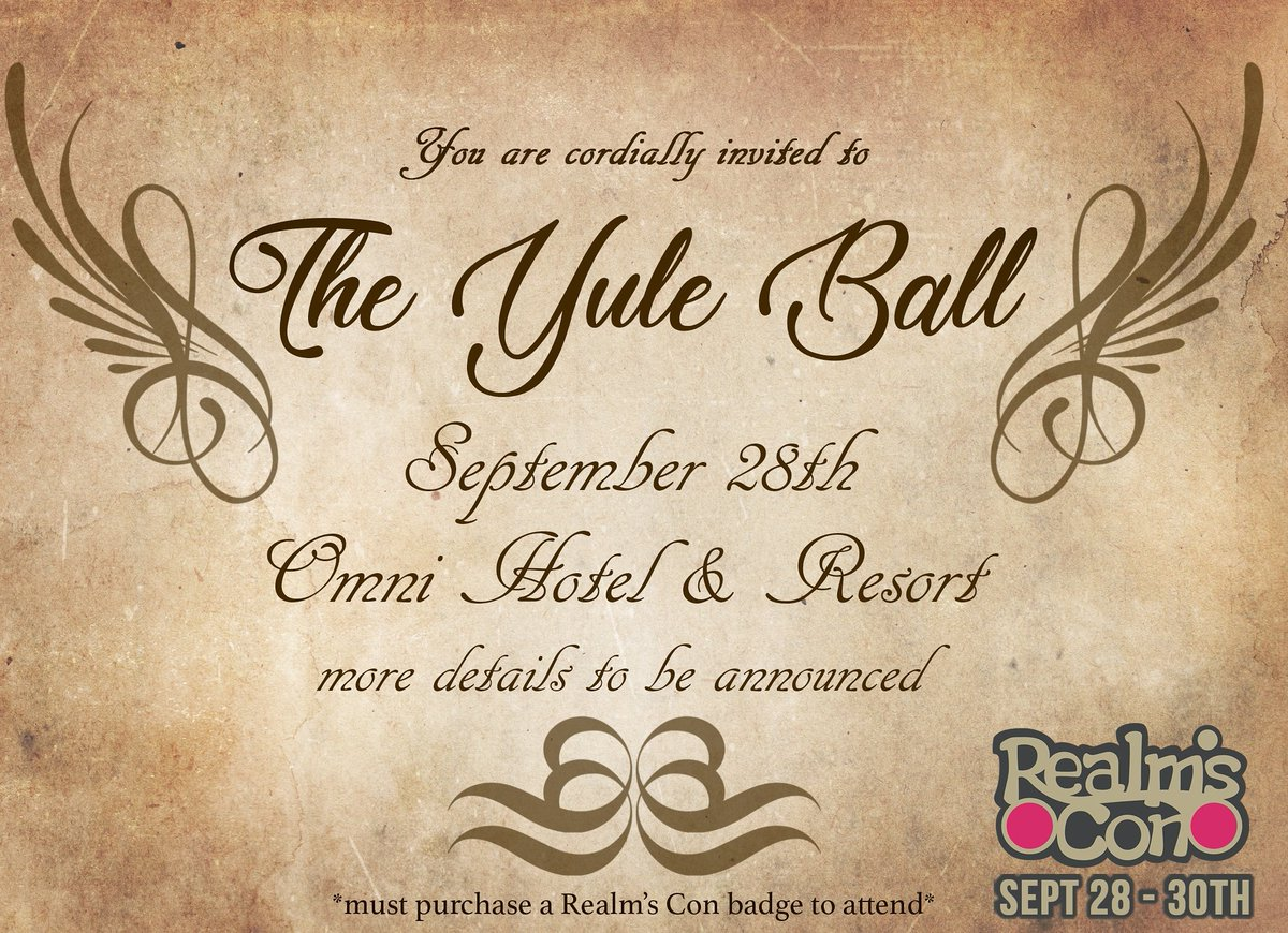 Realms Con on Twitter You are cordially invited Realms Con Yule