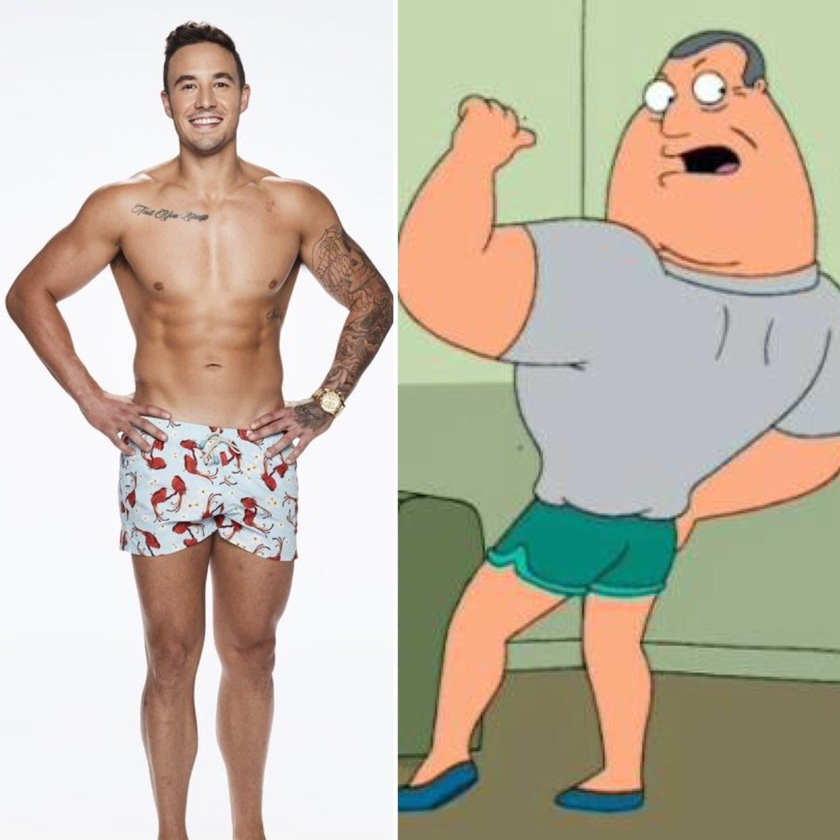So confused. Grant's shorts getting smaller by the second 🤣 #loveislandau https://t.co/KwwlCOoFOl