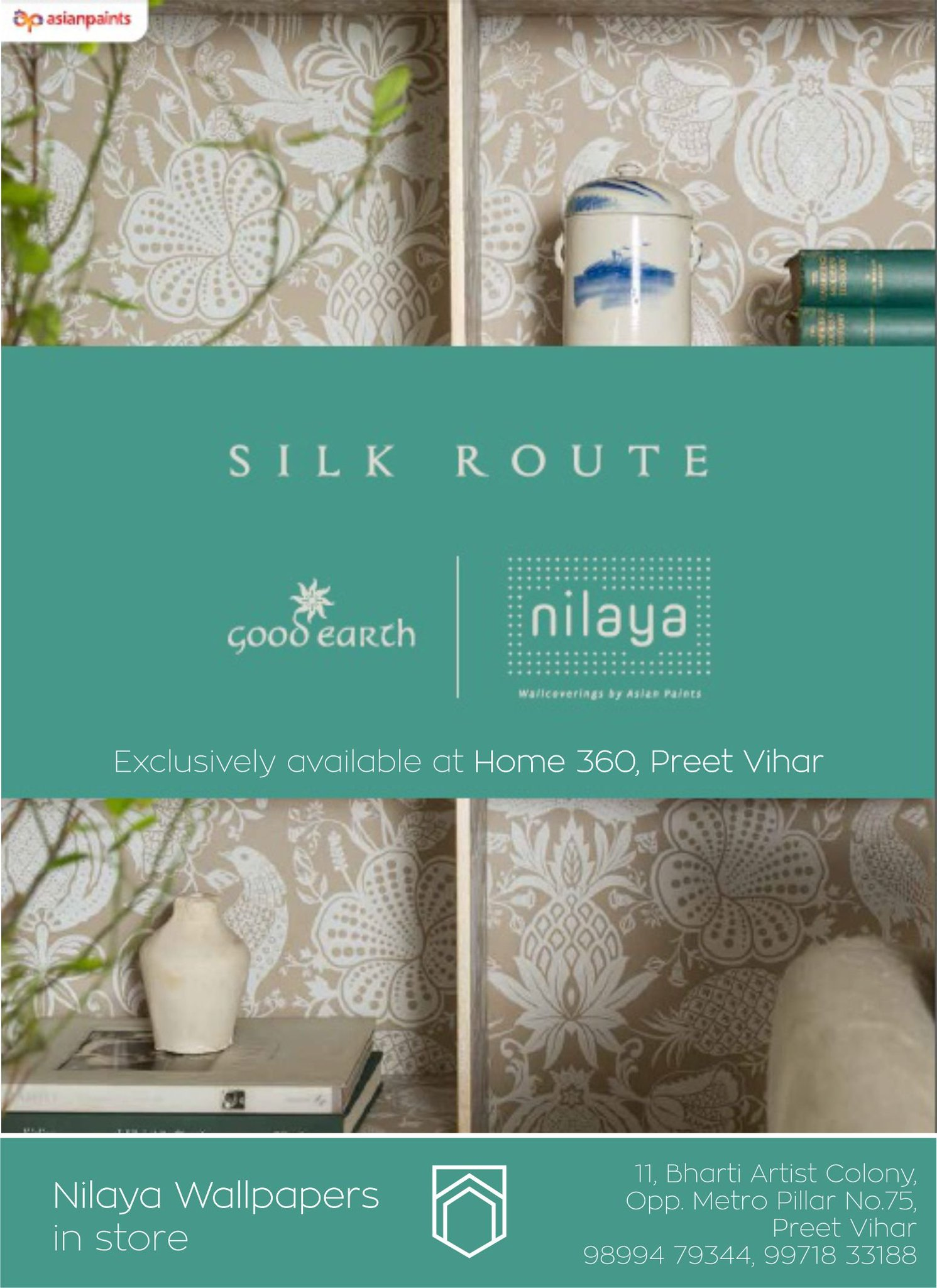 Home 360 Ar Twitter Introducing Nilaya Wallpapers Exclusively At Home 360 Preet Vihar Explore Latest Range Of Designer Wallpapers From Good Earth Sabyasachi By Nilaya Select From A Variety Of Nature