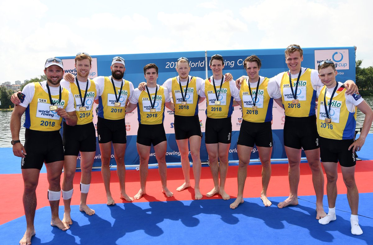 The German Men's Eight continue the series of victories. The Olympic champions in their Flagship boat won the Worldcup in Belgrade in a superior matter against Great Britain. Not matter if Coxless Pair, Coxless Four or German Men's Eight, our motto always remains wilove Team D8!