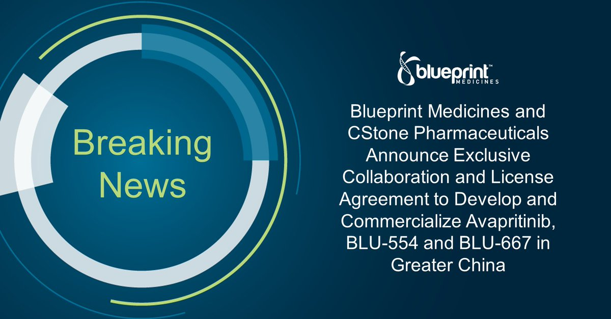 Blueprint medicines on twitter we are thrilled to announce our collaboration with cstone pharmaceuticals learn more about what this partnership means for the rapid development and expansion of our clinical programs malvernweather Gallery