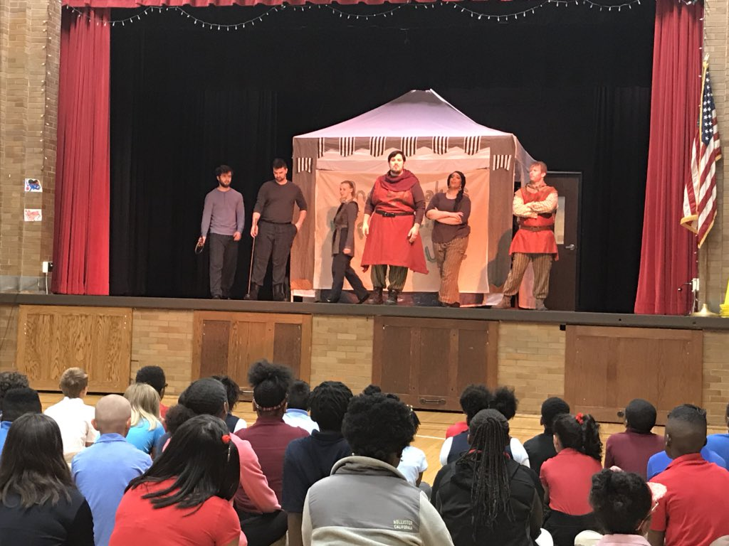 Learning Shakespeare @IPS_CFI thanks to Indy Shakes Traveling Troupe!