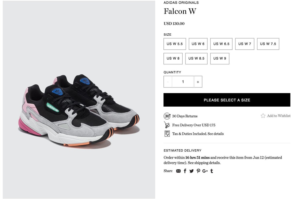 hot sale online 8f3f1 161a3 ... closeout sneaker drop worldwide on twitter now available womens adidas  falcon light granite buy here t