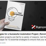 10 essential strategies to avoid the pitfalls of test automation and maximise your ROI in this ebook from @Ranorex. Download your free copy today! https://t.co/G8kGZhyIPy