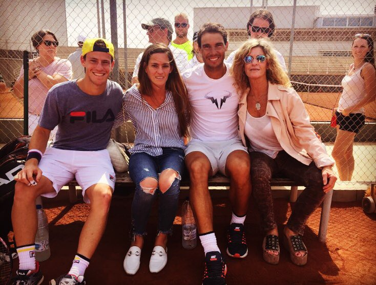 Jose Morgado On Twitter Rg18 Qfs Rafa Nadal Vs Diego Schwartzman Peque Spent The Week Before Rolandgarros In Manacor Practicing Including Some Sessions With Rafael After The Last One Mom And Sister