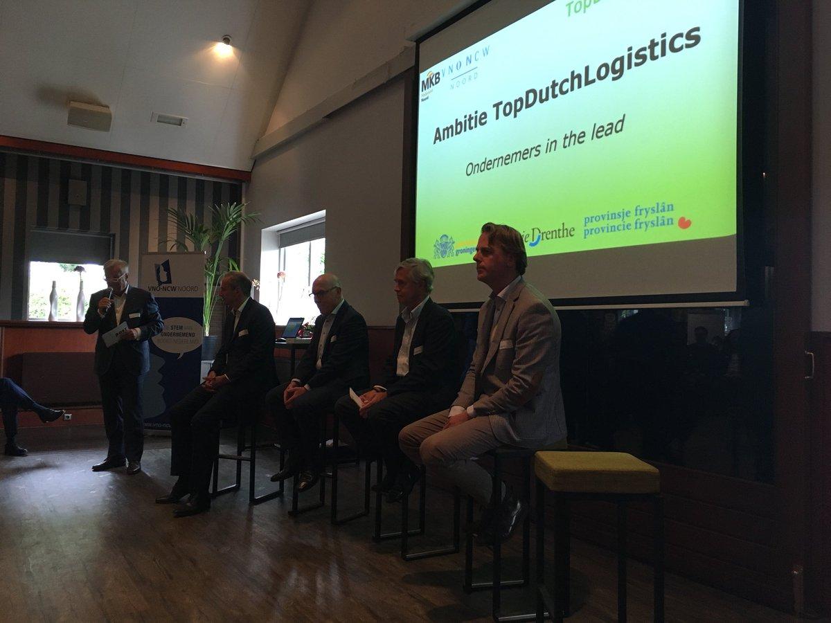 Kick off van Top Dutch Logistics met de initiatiefnemers Jon Kuiper, Ron Kleinsmit, Ben Blog en Frans Zoetmuldet