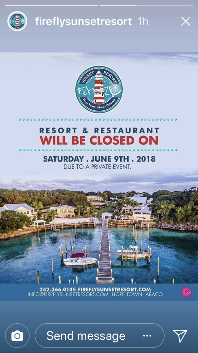 Firefly Resort Abaco On Twitter We Will Be Closed This