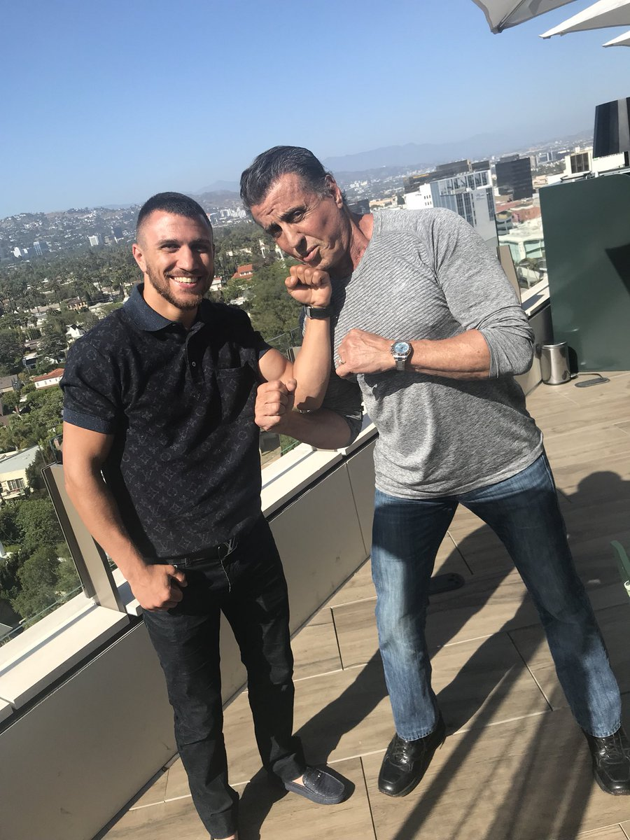 Lomachenko with Stallone
