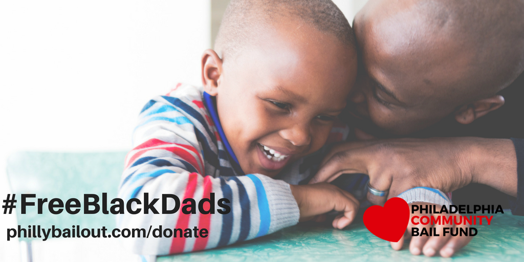 Mamas Day Bailout was a huge success thanks to your help. We freed 15 women! Fathers Day is around the corner and we want to #FreeBlackDads too. We are hoping to raise $25K to bail out Black dads and caretakers on Thursday June 14th. Can you help? phillybailout.com/donate
