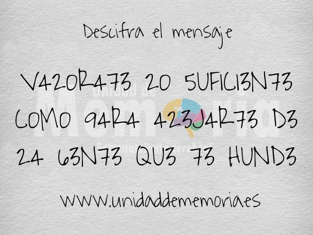 Retos Gcerveravalee Bonita Frase Letras Sustituidas Números