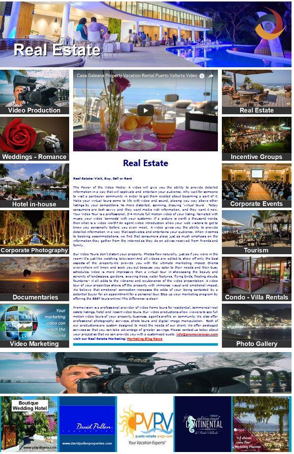 Real Estate  https://www.promovisionpv.com/?p=2 #RealEstate #RealEstateMarketing #VideoMarketing #Photography #PuertoVallarta #RivieraNayarit  #NuevoVallarta #Bucerias #PuntaMita #Sayulita #SanPancho #Mexico